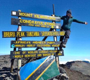 Kilimandżaro - szczyt Uhuru Peak 5895