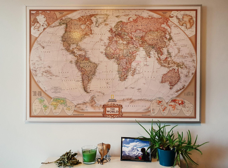 mapa-świata-ściana